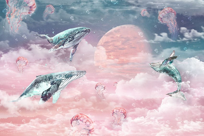 01-072 Moon Whales
